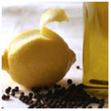 Lemon Pepper Olive Oil, WITH LABELS Case of 12 375mL Bottles